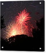 4th Of July Fireworks - 01131 Acrylic Print by DC Photographer
