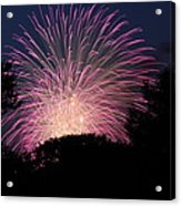 4th Of July Fireworks - 01132 Acrylic Print by DC Photographer