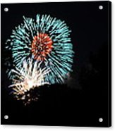 4th Of July Fireworks - 011331 Acrylic Print by DC Photographer