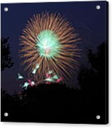 4th Of July Fireworks - 01134 Acrylic Print by DC Photographer