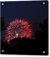 4th Of July Fireworks - 01136 Acrylic Print by DC Photographer