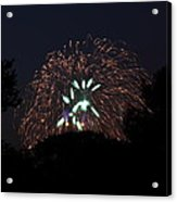 4th Of July Fireworks - 01138 Acrylic Print by DC Photographer