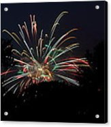 4th Of July Fireworks - 01139 Acrylic Print by DC Photographer