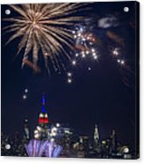 4th Of July Fireworks Acrylic Print by Eduard Moldoveanu