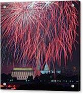 4th Of July Fireworks Acrylic Print by Mark Whitt