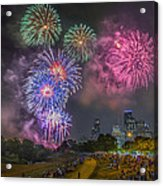 4th Of July In Houston Texas Acrylic Print
