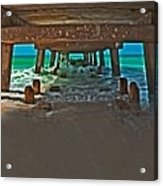 4x1 Under Fishing Pier Acrylic Print