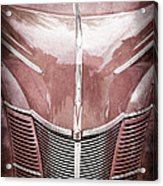 1940 Ford Deluxe Coupe Grille Acrylic Print
