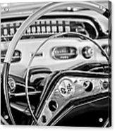 1958 Chevrolet Impala Steering Wheel Acrylic Print