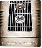 1960 Volkswagen Vw Porsche 356 Carrera Gs Gt Replica Emblem Acrylic Print