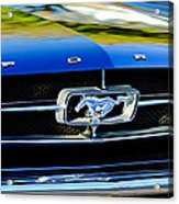 1965 Shelby Prototype Ford Mustang Grille Emblem Acrylic Print