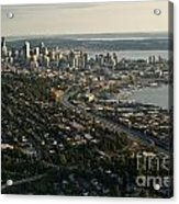 Aerial View Of Seattle Acrylic Print