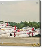 Airplanes At The Airshow Acrylic Print