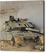 An Israel Defense Force Magach 7 Main Acrylic Print