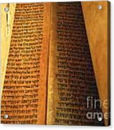Ancient Torah Scrolls From Yemen  Acrylic Print