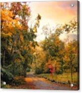 Autumn's Sunset Path Acrylic Print
