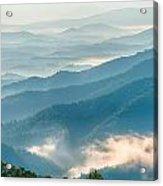 Blue Ridge Parkway Scenic Mountains Overlook Summer Landscape Acrylic Print