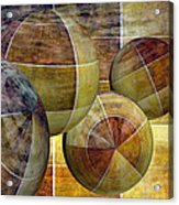 5 By 5 Gold Worlds Acrylic Print