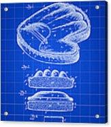 Catcher's Glove Patent 1891 - Blue Acrylic Print