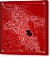 Cochabamba Street Map - Cochabamba Bolivia Road Map Art On Color Acrylic Print