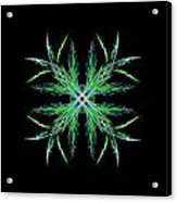Colorful Crystalline Snowflake Acrylic Print