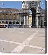 Commerce Square In Lisbon Acrylic Print