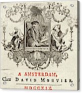 Desiderius Erasmus  Dutch Humanist Acrylic Print