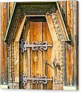 Detail Of The Door Of A Typical Ukrainian Antique Orthodox Churc Acrylic Print