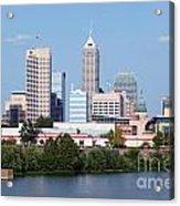 Downtown Indianpolis Indiana Skyline Acrylic Print