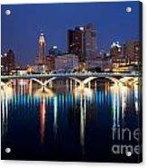 Downtown Skyline Of Columbus Acrylic Print