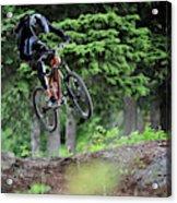 Extreme Biking In Alaska Acrylic Print