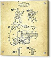 Fender Guitar Patent Drawing From 1960 Acrylic Print by Aged Pixel