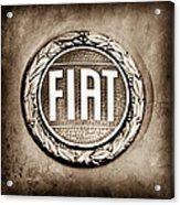 Fiat Emblem Acrylic Print