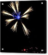 Fireworks In Neon Acrylic Print