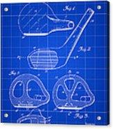 Golf Club Patent 1926 - Blue Acrylic Print