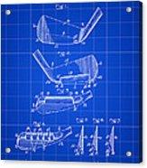 Golf Iron Patent 1914 - Blue Acrylic Print