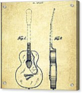 Gretsch Guitar Patent Drawing From 1941 - Vintage Acrylic Print by Aged Pixel