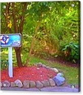 5 Hole Sign On  Golf Course 2 Acrylic Print