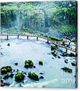 Iguassu Falls In Brazil Acrylic Print
