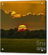 Lowcountry Sunset Over The Marsh Acrylic Print