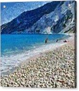 Myrtos Beach In Kefallonia Island Acrylic Print