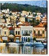 Mytilini Port Acrylic Print