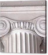 Neoclassical Ionic Architectural Details Acrylic Print
