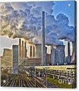 Neurath Power Station Germany Acrylic Print by David Davies
