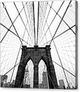 Nyc Brooklyn Bridge Acrylic Print by Nina Papiorek