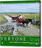 Old Irish Saying's Acrylic Print