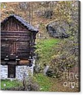 Old Rustic House Acrylic Print