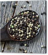 Peppercorn And Spoon Acrylic Print