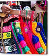 Peruvian Dancers At The Parade In Cusco Acrylic Print