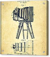Photographic Camera Patent Drawing From 1885 Acrylic Print by Aged Pixel